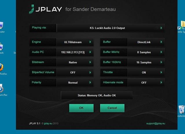 7 JPlay settings