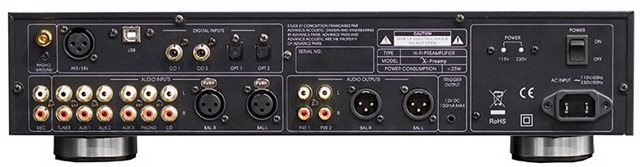 Advance Acoustic - X-Preamp achterkant