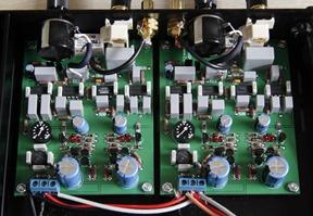 Daudio elektronisch cross over filter binnenkant