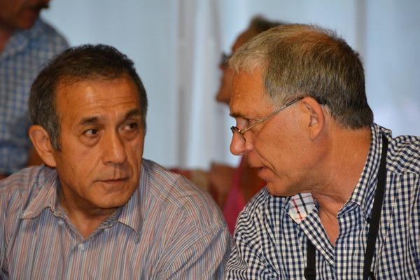 Jean Hiraga (links)