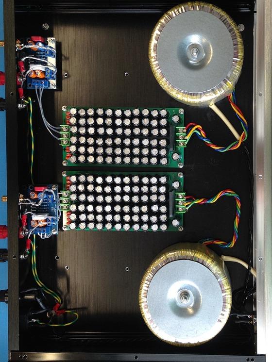 LM3886 dual mono versterker multi elco voeding (2)