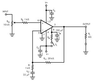 LM3886 versterkerschema