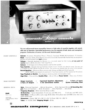 Marantz 7c brochure