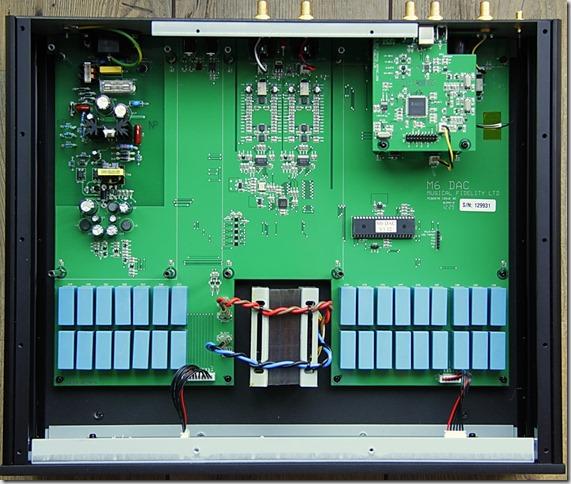 Musical Fidelity M6 DAC binnenkant zonder afscherming