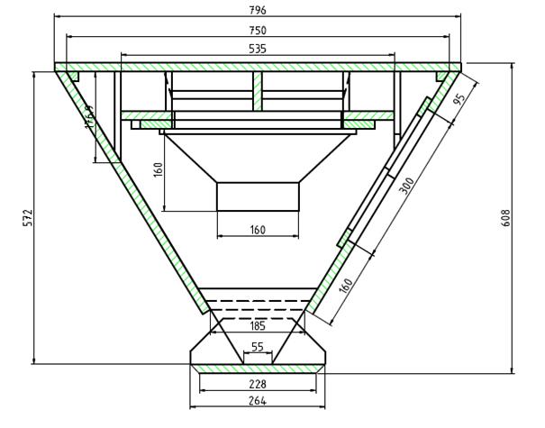 Klipschorn constructie