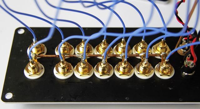 Tortuga Audio LDR6 aansluitingen binnenkant