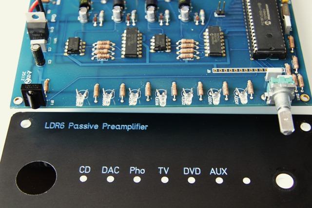 Tortuga Audio LDR6 front en PCB