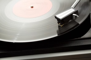 Vinyl-on-turntable