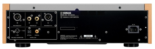 Yamaha CD-S2000 achterkant