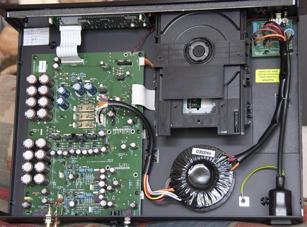 Exposure 3010S2 cd speler binnenkant