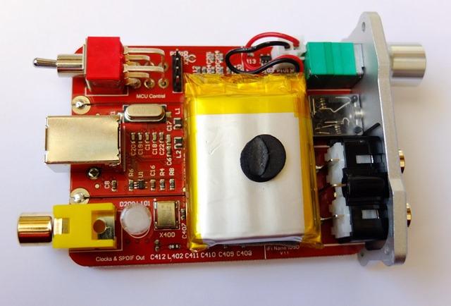 iFI nano DSD DAC - binnenkant boven