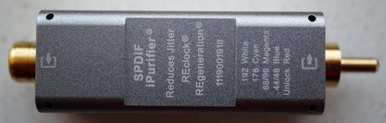 iFi SPDIF purifier achterkant