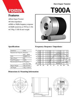 Fostex T900A specificaties